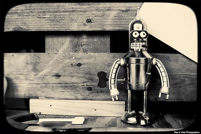 Bender, ese robot que odia a los humanos.