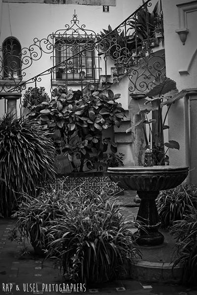 Patio andaluz... en Roda de Bara. Concretamente en la Roc.