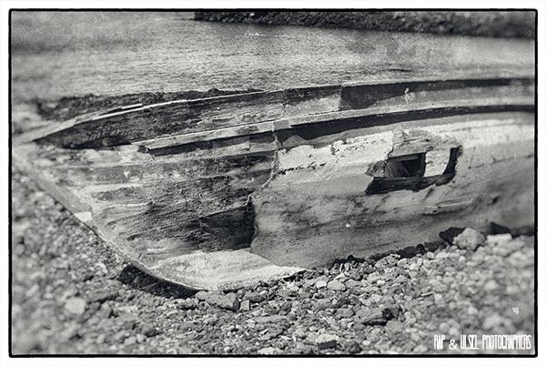 Barca de pescadores abandonada.